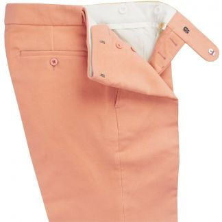 Cordings Peach Moleskin Trousers Different Angle 1