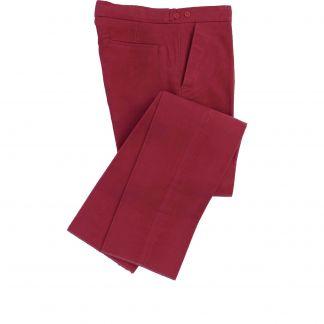 Cordings Wine Moleskin Trousers Main Image