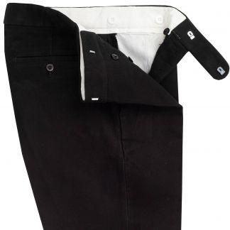 Cordings Black Moleskin Men's Trousers Different Angle 1