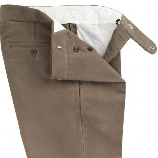 Cordings Lovat Green Moleskin Trousers Different Angle 1