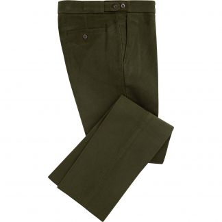 Cordings Olive Green Moleskin Trousers Main Image