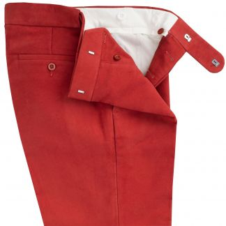 Cordings Rust Moleskin Trousers Different Angle 1