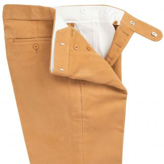 Cordings Camel Moleskin Trousers Different Angle 1