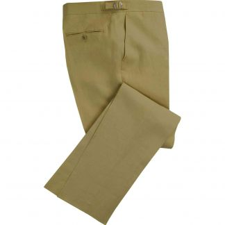 Cordings Olive Green Linen Trousers Main Image