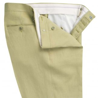 Cordings Light Green Linen Trousers Different Angle 1