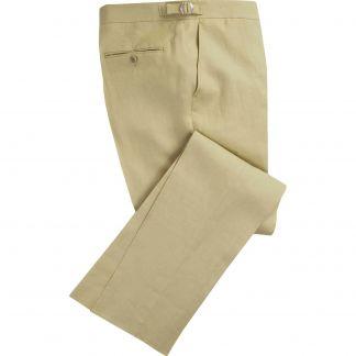 Cordings Sand Linen Trousers Main Image