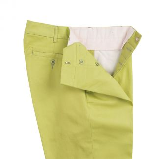 Cordings Zip Fly Apple Bright Chino Trousers Different Angle 1