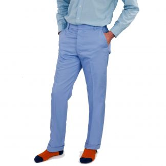 Cordings Zip Fly Pale Blue Chino Trousers Different Angle 1