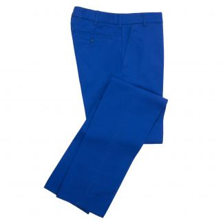 Cordings Zip Fly Royal Blue Chino Trousers Main Image