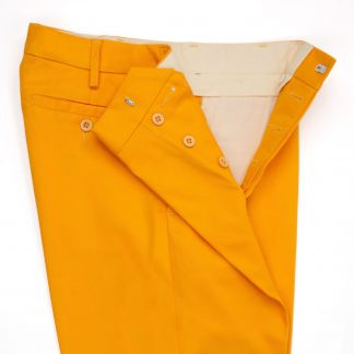 Cordings Button Fly Gold Chino Trousers Different Angle 1