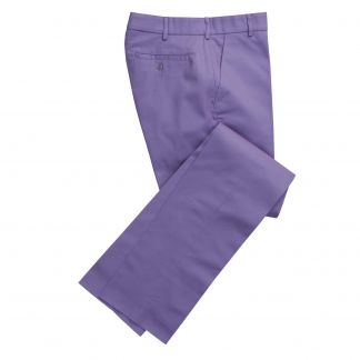 Cordings Button Fly Lilac Bright Chino Trousers Main Image