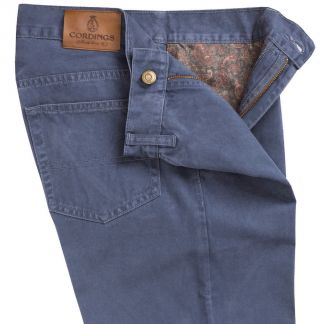 Cordings True Blue Cotton Twill Jeans Different Angle 1