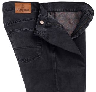 Cordings Charcoal Cotton Twill Jeans Different Angle 1