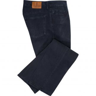 Cordings Midnight Blue Cotton Twill Jeans Main Image