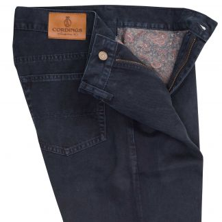 Cordings Midnight Blue Cotton Twill Jeans Different Angle 1