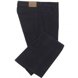 Cordings Navy Moleskin Jeans  Main Image