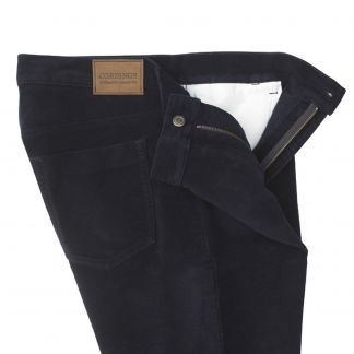 Cordings Navy Moleskin Jeans  Different Angle 1