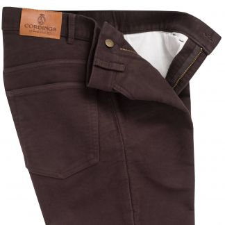 Cordings Brown Moleskin Jeans  Different Angle 1