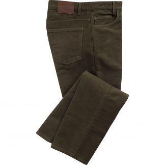Cordings Olive Moleskin Jeans  Main Image