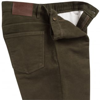 Cordings Olive Moleskin Jeans  Different Angle 1