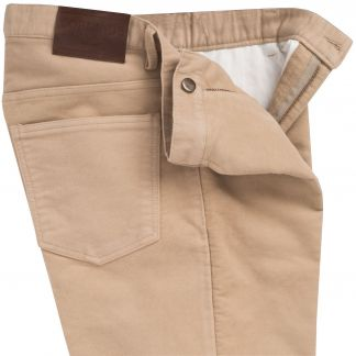 Cordings Beige Moleskin Jeans  Different Angle 1
