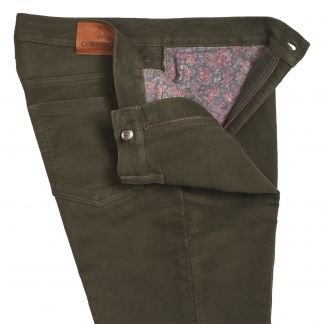 Cordings Green Stonecutter Moleskin Jean Different Angle 1