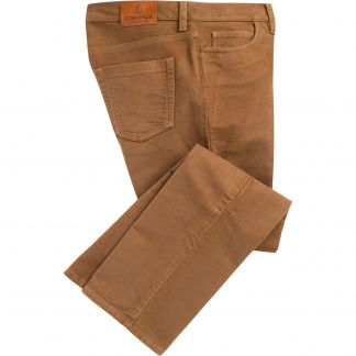 Cordings Mid Tan Stonecutter Moleskin Jean Main Image