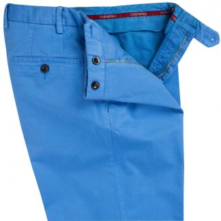 Cordings Azure Blue Summer Gabardine Trousers Different Angle 1