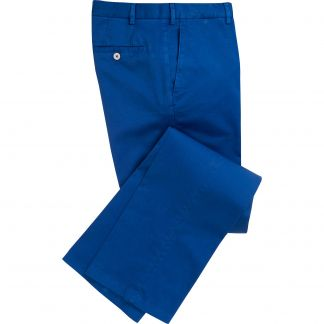 Cordings Royal Blue Summer Gabardine Trousers Main Image