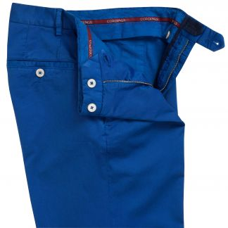 Cordings Royal Blue Summer Gabardine Trousers Different Angle 1
