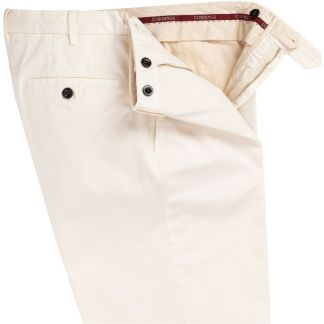 Cordings Cream Gabardine Trousers Different Angle 1