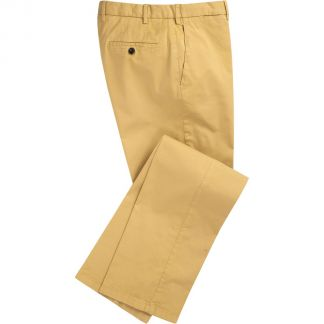 Cordings Gold Summer Gabardine Trousers Main Image