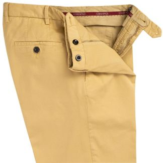 Cordings Gold Summer Gabardine Trousers Different Angle 1