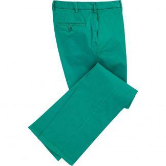 Cordings Emerald Green Gabardine Trousers Main Image