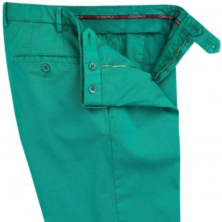 Cordings Emerald Green Gabardine Trousers Different Angle 1