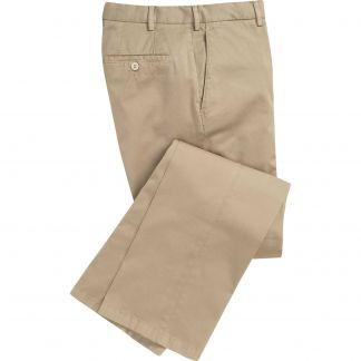 Cordings Khaki Summer Gabardine Trousers Main Image