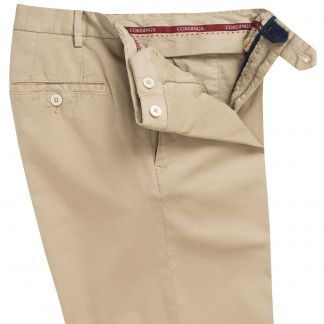 Cordings Khaki Summer Gabardine Trousers Different Angle 1