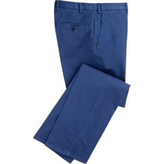 Cordings True Navy Summer Gabardine Trousers Main Image