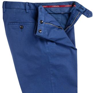 Cordings True Navy Summer Gabardine Trousers Different Angle 1