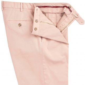 Cordings Pale Pink Summer Gabardine Trousers Different Angle 1