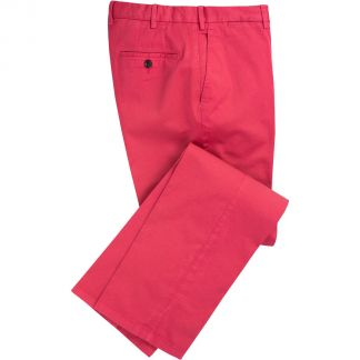 Cordings Bright Pink Summer Gabardine Trousers Main Image