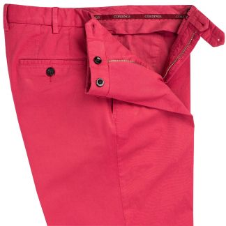 Cordings Bright Pink Summer Gabardine Trousers Different Angle 1