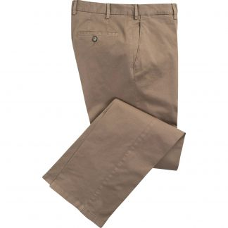 Cordings Putty Summer Gabardine Trousers Main Image