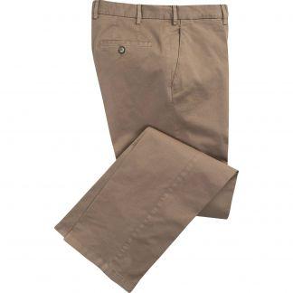 Cordings Putty Summer Gabardine Trousers Main Image