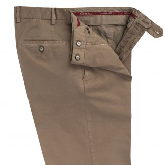 Cordings Putty Summer Gabardine Trousers Different Angle 1