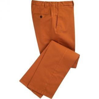 Cordings Red Rust Gabardine Trousers Main Image