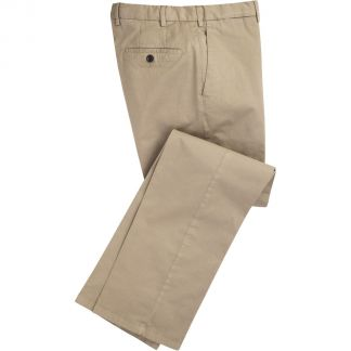 Cordings Stone Summer Gabardine Trousers Main Image