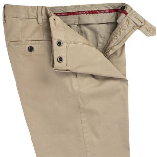 Cordings Stone Summer Gabardine Trousers Different Angle 1