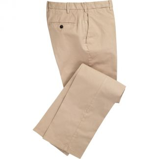 Cordings Sand Summer Gabardine Trousers Main Image