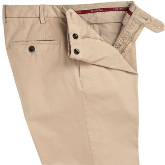Cordings Sand Summer Gabardine Trousers Different Angle 1